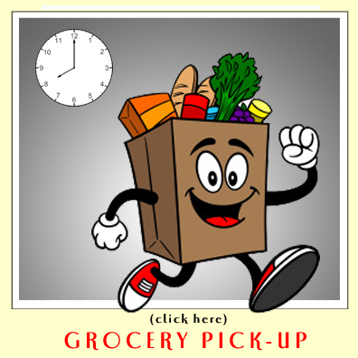 Grocery delivery clipart